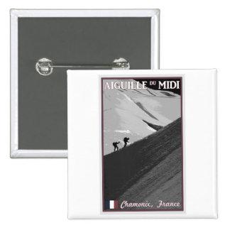 Chamonix - Aiguille du Midi Arete Pinback Button