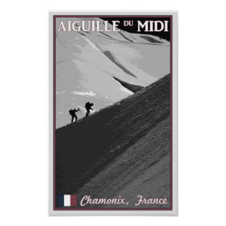 Chamonix - Aiguille du Midi Arete Poster