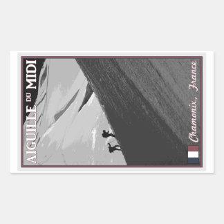 Chamonix - Aiguille du Midi Arete Rectangular Sticker