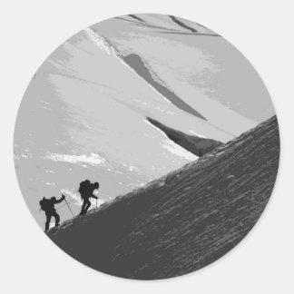 Chamonix - Aiguille du Midi Arete Round Sticker