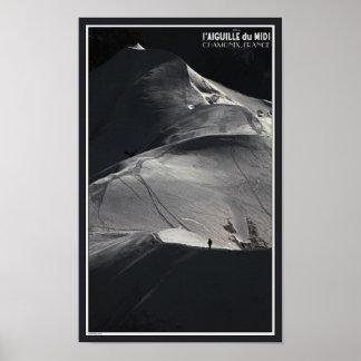 Chamonix - Aiguille du Midi Arete Solo Posters