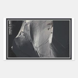 Chamonix - Aiguille du Midi Arete Solo Rectangular Sticker