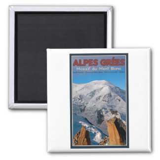 Chamonix - Alpes Grees 2 Inch Square Magnet