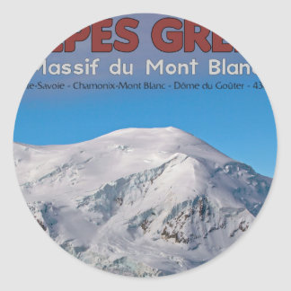 Chamonix - Alpes Grees Classic Round Sticker