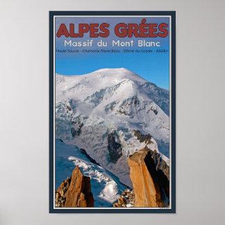 Chamonix - Alpes Grees Poster
