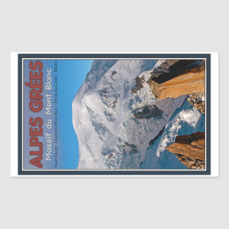 Chamonix - Alpes Grees Rectangular Sticker