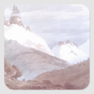 Chamonix and Martigny Square Sticker