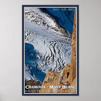 Chamonix - Bossons Closeup Posters