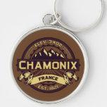 Chamonix Color Logo Keychain