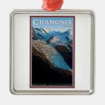 Chamonix - DES Bossons del glaciar Ornamentos De Navidad
