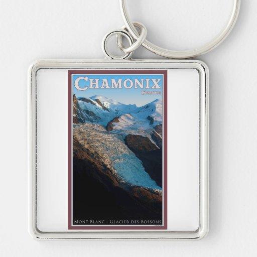 Chamonix - DES Bossons del glaciar Llavero Personalizado