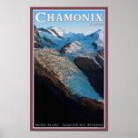 Chamonix - DES Bossons del glaciar Poster