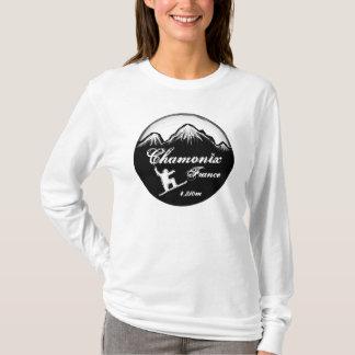 Chamonix France ladies snowboard art hoodie