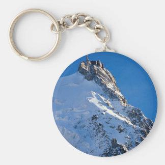 Chamonix from Aiguille de Midi, Mont Blanc, France Keychain