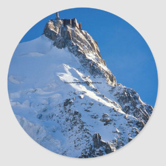 Chamonix from Aiguille de Midi, Mont Blanc, France Classic Round Sticker