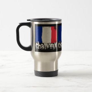 Chamonix Grunge Flag Coffee Mugs