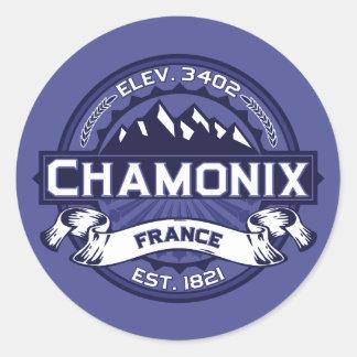 Chamonix Logo Midnight Classic Round Sticker