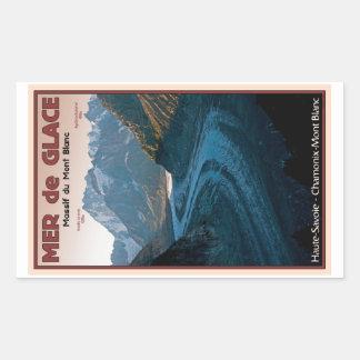 Chamonix - Mer de Glace Rectangular Sticker