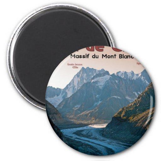Chamonix - Mer de Glace Refrigerator Magnets