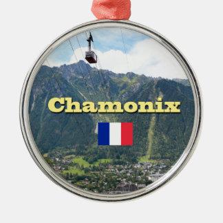 Chamonix - Mont Blanc Metal Ornament