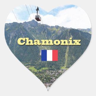 Chamonix - Mont Blanc Calcomania Corazon Personalizadas