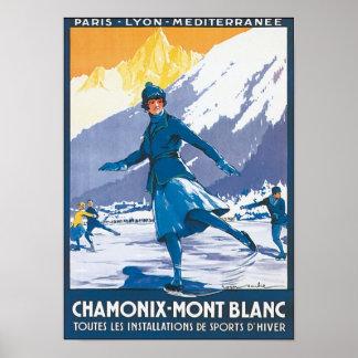 Chamonix Mont Blanc Poster