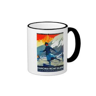 Chamonix-Mont Blanc Vintage PosterEurope Coffee Mugs