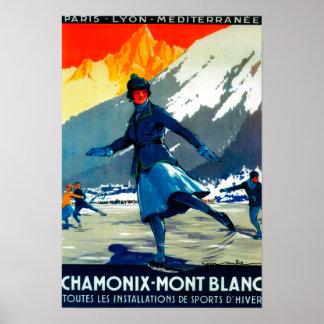 Chamonix-Mont Blanc Vintage PosterEurope Poster