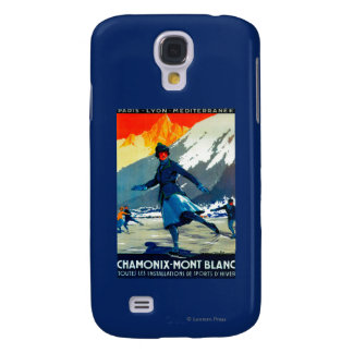 Chamonix-Mont Blanc Vintage PosterEurope Samsung Galaxy S4 Covers