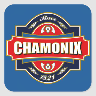 Chamonix Old Label Square Sticker