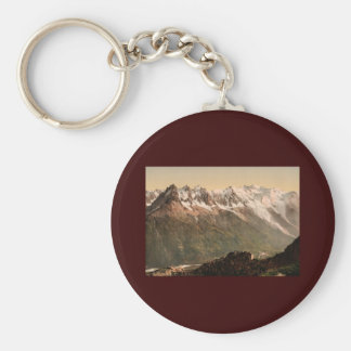 Chamonix Valley from the Aiguille du Floria Savoy Keychain