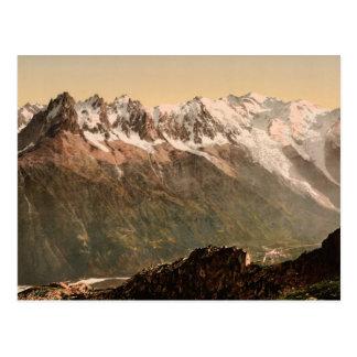 Chamonix Valley from the Aiguille du Floria Savoy Postcard