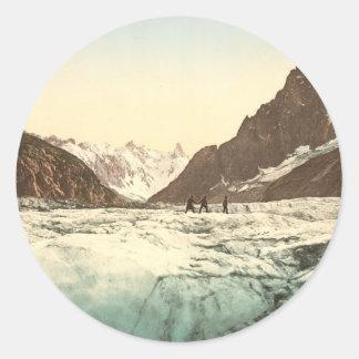Chamonix Valley - Mer de Glace Classic Round Sticker