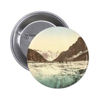 Chamonix Valley - Mer de Glace Pinback Button