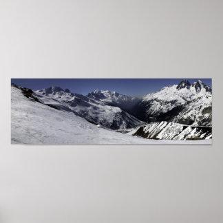 Chamonix Valley Panorama Poster