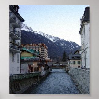 Chamonix Village Poster