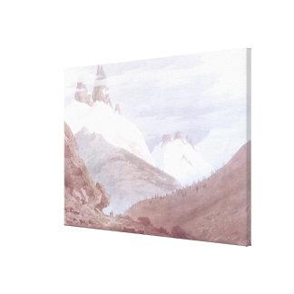 Chamonix y Martigny Impresión En Lienzo Estirada
