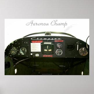 Champ Cockpit Poster