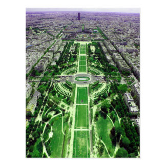 Champ de Mars de la torre Eiffel Tarjeta Postal