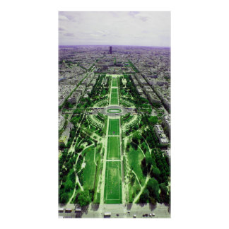 Champ-de-Mars from the Eiffel Tower Print