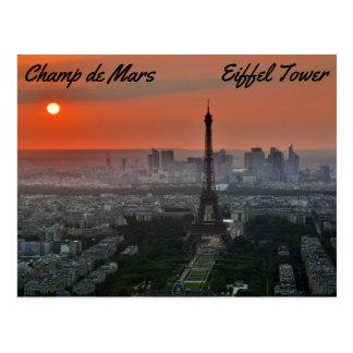 Champ de Mars, torre Eiffel Tarjeta Postal