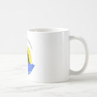 Champ goes everywhere classic white coffee mug