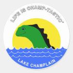 Champ goes everywhere sticker