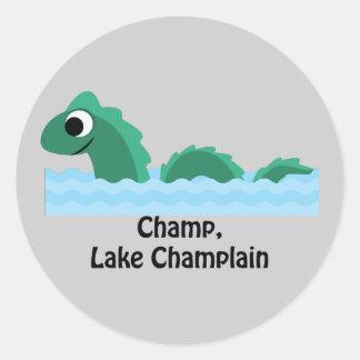 Champ, Lake Champlain Classic Round Sticker