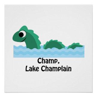 Champ, Lake Champlain Poster