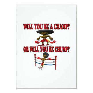 Champ Or Chump Personalized Invitations