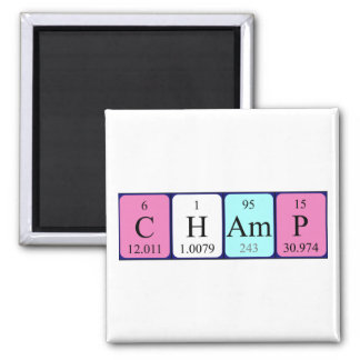 Champ periodic table name magnet