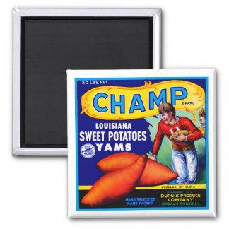 Champ Sweet Potatoes Fridge Magnet