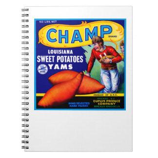 Champ Sweet Potatoes Notebook
