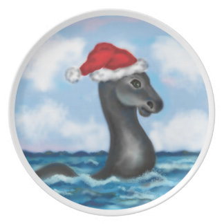 Champ the Lake Champlain Monster Holiday Plate